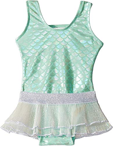(Shade Critters Baby Girl's Metallic Mermaid One-Piece (Infant/Toddler) Mint 4T)