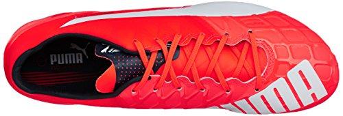 Puma evoSPEED 1.4 FG - zapatillas de fútbol de material sintético hombre Arancione (Orange (lava blast-white-total eclipse 01))