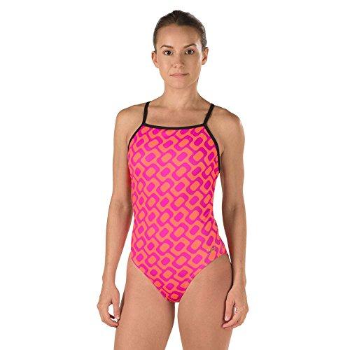 Speedo Women's Rio Printed Back One Piece Swimsuit, Pink, Size - Speedo Swimsuit In All One