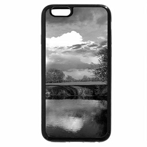 iPhone 6S Plus Case, iPhone 6 Plus Case (Black & White) - Spring river