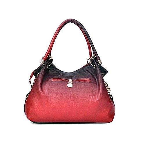 Rouge Sac Ombre 30cmXLongueur Pu main à Évider Gray Gris bandoulière maxX50cm femmes imprimé Rouge floral à sac Sac cuir Sacs en Bleu Femmes qwHPCxEn