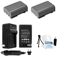 NB-2LH Battery 2-Pack Bundle with Rapid Travel Charger and UltraPro Accessory Kit for Select Canon Cameras Including Vixia HF-R10, HF-R11, HF-R100, Optura 30, 50, HV20, and HG10
