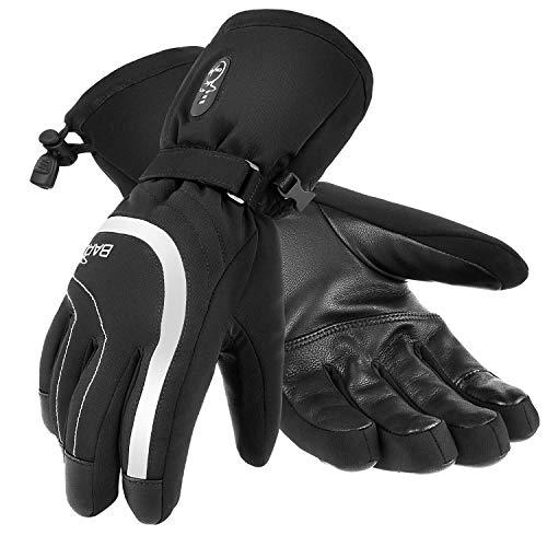 BARCHI HEAT 7.4V 2200MAH Stripes beheizte Handschuhe, wiederaufladbare elektrische Handschuhe, Raynauds Handwärmer für Schneetreiben Skifahren Eislaufen Motorradfahren