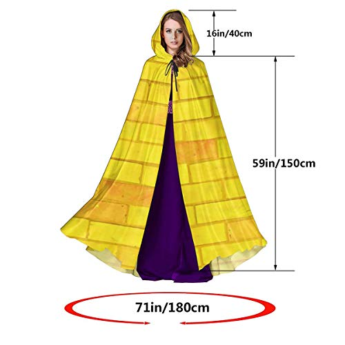RECONFENG Hooded Cloak Long Cape for Halloween