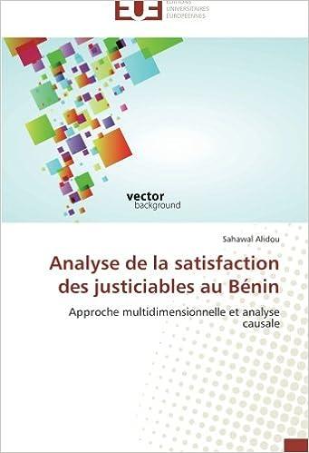 Livres gratuits Analyse de la satisfaction des justiciables au Bénin: Approche multidimensionnelle et analyse causale pdf