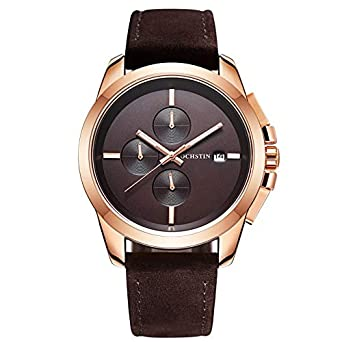 Ochstin Business Casual Rosegold Casing Brown Dial Full