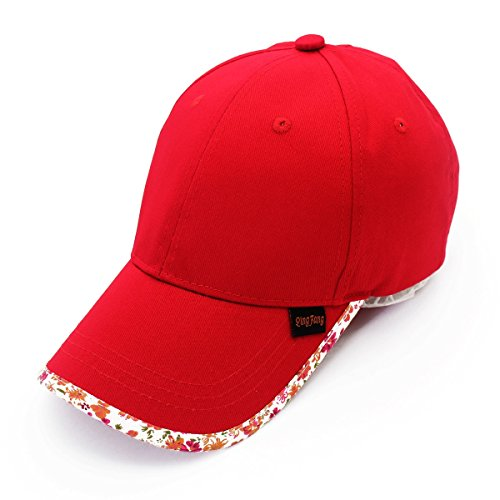 Yaojiaju Spring sun shade pure cotton parent baseball hat sunscreen leisure sports girl boy outdoor hat gorras mujer plisada visera (Color : Red)