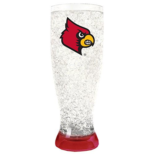NCAA Louisville Cardinals 16oz Crystal Freezer Pilsner