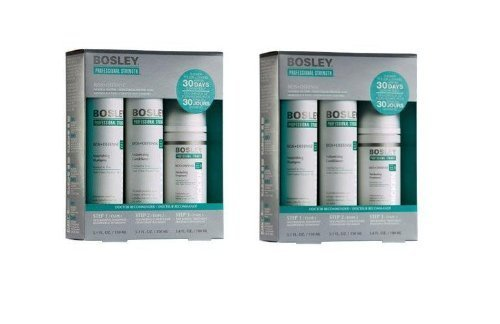 Bosley Defense 3-Bottles Starter Pack for Normal To Fine Non Color, Treated Hair - Set of (Step 2 Minoxidil)
