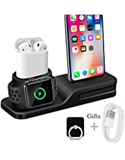Wonsidary Ständer für Apple Watch, Ladestation für Airpods iPhone XR/XS/X/8 Plus/8/7 Plus/7/6s/6
