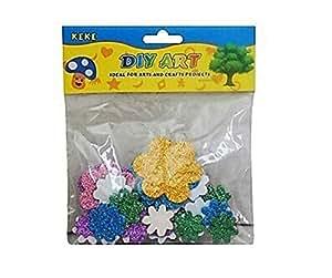 Sarvah Diy Art & Craft Flower Sticker Multi Color 3 Pack