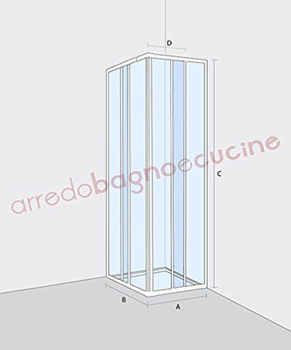 mampara de ducha angular, tamaño CM.80 X 80 (reducible de CM.68 A ...