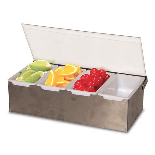 Value Series CD-4 Bar Condiment Organizer with (4) Pint Inserts (Organizer Condiment Pint)