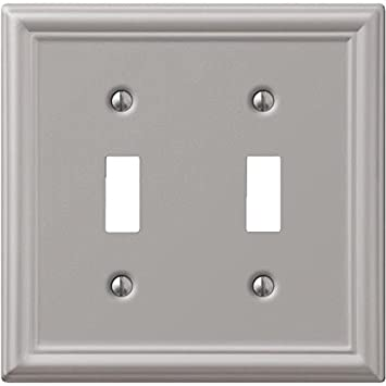 Creative Accents Wall Plate Brushed Nickel Chelsea 2 Toggle Carded