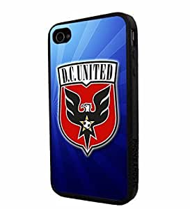 Soccer MLS DC D.C. United LOGO SOCCER FOOTBALL, Cool iPhone 5 5s Smartphone iphone Case Cover Collector iphone TPU Rubber Case Black