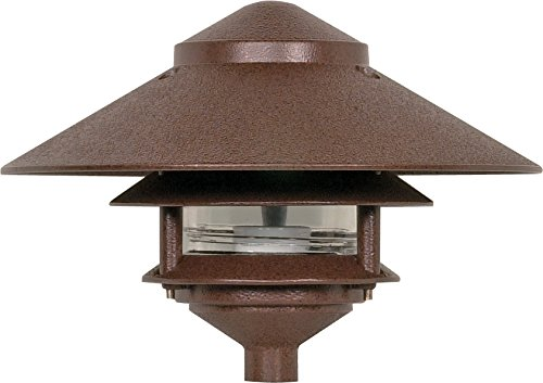 Nuvo Lighting SF76/635 One Light Two Louver Large Hood 120 Volt Die Cast Aluminum Durable Outdoor Landscape Pathway Lighting, Old Bronze Pathway Lighting