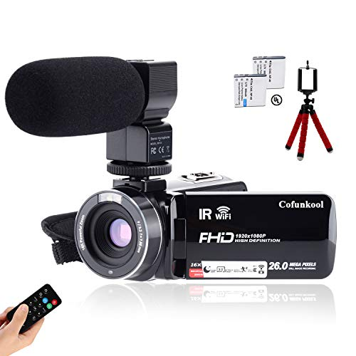 CofunKool Camcorder 1080P 26MP Video Camera WiFi Vlogging Camera for YouTube, 270° Flipping 3.0