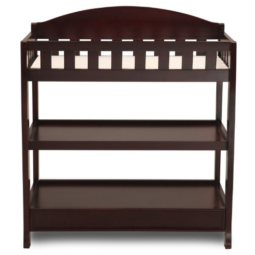 Delta Children Infant Changing Table with Pad, Espresso Cherry by Delta Children (Image #3)