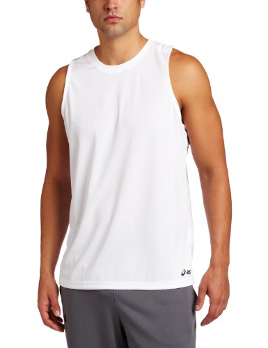 Mesh Singlet Dri Fit - ASICS Men's Ready Set Singlet,White,Medium