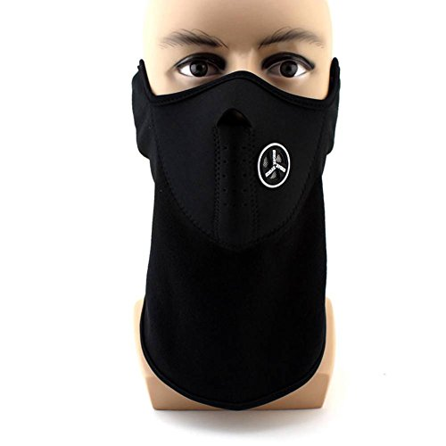 Unisex Premium Face Mask, WITERY Dustproof & Windproof Half Face Mask Motorcycle Neck Warmer or Tactical Balaclava Hood For Skiing Cycling Motorcycle (Camo Hockey Mask)