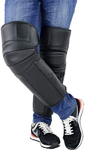 オートバイの膝パッド - 革のカシミア、暖かい膝パッド、冬の男性と女性のライディングプロテクション防風モトクロス保護装置新,B