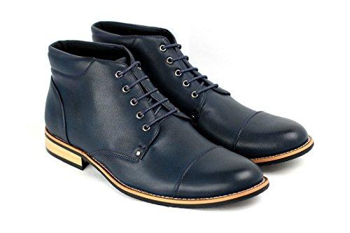 Herren Freizeit Stiefeletten Mode Biker Schuhe Marine