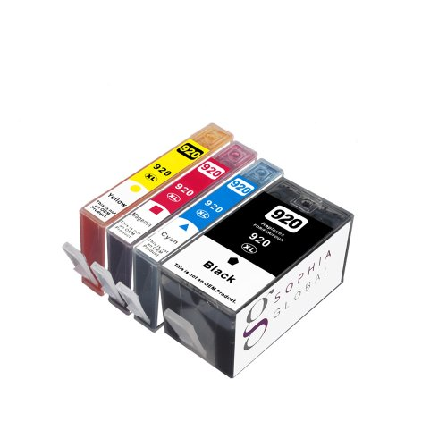 Sophia Global Remanufactured Ink Cartridge Replacement for HP 920XL (1 Black, 1 Cyan, 1 Magenta, 1 Yellow)