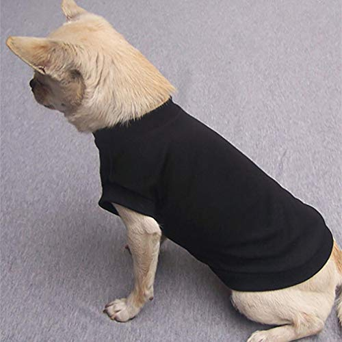 Puppy Clothes, Pet Dog Cat Fleece Sweater Spring Winter Warm Sweat Shirt Doggy Coat (S, Black) -