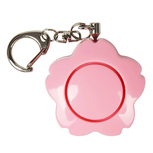 Enyee Personal Alarm 120dB Siren SOS Device Self Defense Emergency Safety Alarm Sakura Shape Security Keychain for Women/Student/Attack Rape/Jogger/Kids/Elderly/Pupil, Charm for Bag Decoration (Pink)