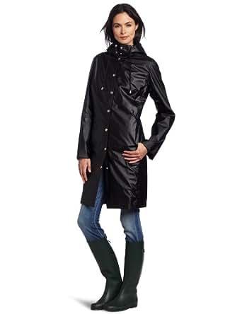 ILSE JACOBSEN Women's RAIN 01 Waterproof Rain Coat, Black, Large