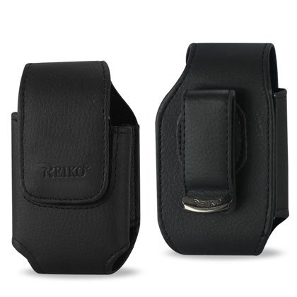 Leather Pouch Protective Carrying Cell Phone Case for AUDIOVOX 8900 / KYOCERA KX160 / LG VX7000 VX8300 LG VX8100 / MOTOROLA A630 NEXTEL I560 IC902 I860 NOKIA 5300 / SAMSUNG A760 i627 (Propel pro) / SANYO M1 / SONY ERICSSON Z300 Z530i Z500 Z750a - Black (Phone Case Sony Ericsson)