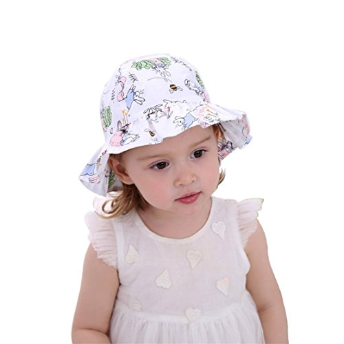 Kids Toddler Baby Girl Sun Hat with Chin Strap UPF 50+ UV Protection