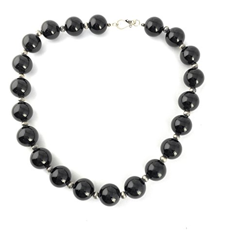 Masha Storewide Sale ! Sterling Silver Jewellery By Black Onyx, Large Beads, Made in USA - Exclusive Southwestern Handmade Jewelry, Gift by Masha