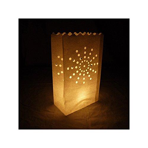 - Quasimoon PaperLanternStore.com Sunburst Paper Luminaries/Luminary Lantern Bags Path Lighting (10 Pack)