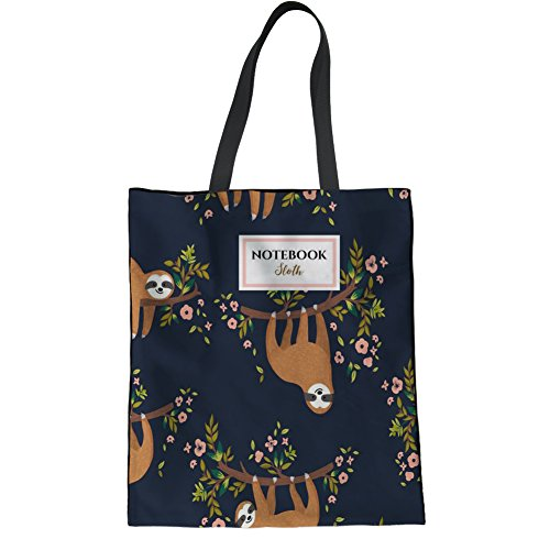 Bag Hipster Bag Girl 2 Linen Bag Handbag Shoulder Teen Tote Sloth HUGS Sloth College IDEA Floral Casual vqPxgPw