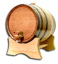Thousand Oaks Barrel B_5L_Black 5 Liter Barrel with Black Steel Hoops