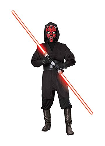 UHC Men's Deluxe Darth Maul Star Wars Sith Lord Black Fancy Costume, Large (42-44)