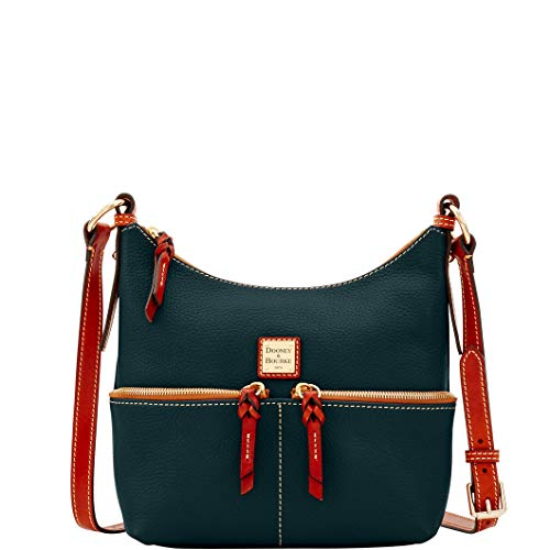 Dooney & Bourke Leather Hobo Bag - Dooney & Bourke Pebble Grain Alyssa Crossbody Shoulder Bag Black