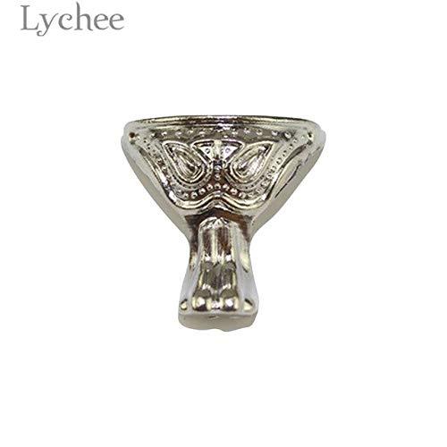 Cacys-Store - Vintage Jewelry Chest Box Feet Leg Antique Bronze Color Silver Color Box Leg Furniture Parts ()