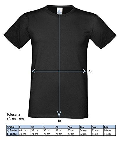 Großvater Fun-T-shirt als Top Geschenk mit GRATIS Urkunde - Bester Opa des Universums Farbe: royal-blau Gr: 5XL