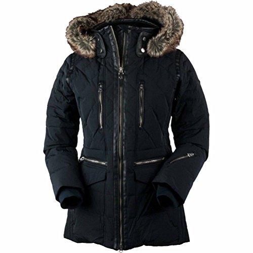 Crinkle Nylon Jacket (Obermeyer Women's Blythe Down Jacket Black 4)