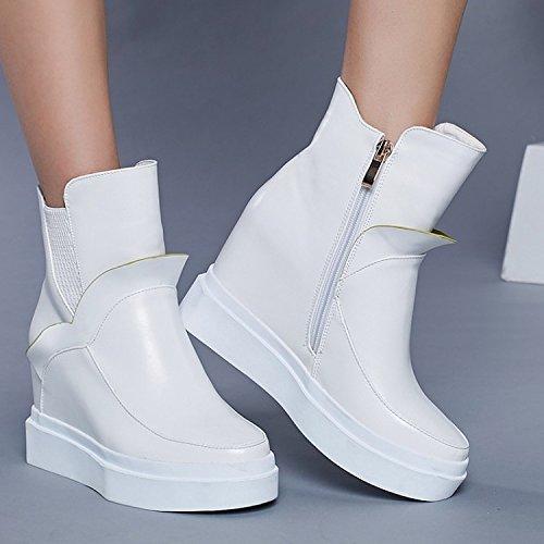 invierno Botas para de un de casual botas zapatos en botas dos color blanco blanco y aumento khskx PBvwqx8Ux