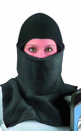 Raider Proclava Snowmobile Cold Weather Fleece Face Mask (Black, One Size)