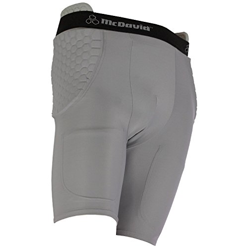 - McDavid Classic Logo 756 Mens HexPad High Hip Pad Football Girdle Grey XL