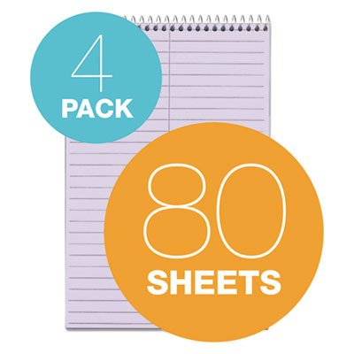 4 Each per Package Spiral Steno Notebook Sold as 1 Package Gregg Rule 6 x 9 4 80-Sheet Pads//Pack Blue