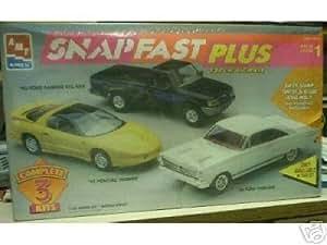 AMT 6625 SNAPFAST Plus Set of 3 - 1993 Ford Ranger STX 4x4, 1966 Ford Fairlane, and 1993 Pontiac Firebird 1/25 Scale Plastic Model Kits