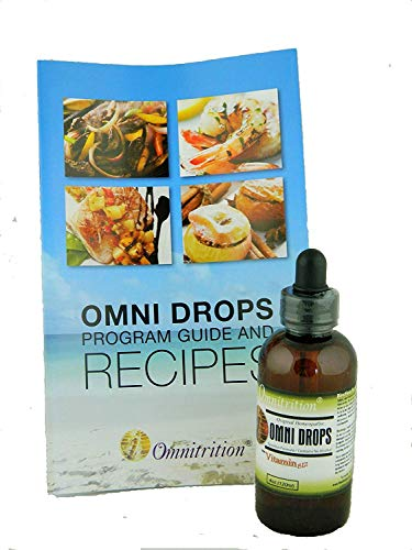 Omni Drops Diet Drops with Vitamin B12 - 4 oz with Program Guide - Omni Extra Strength Vitamins