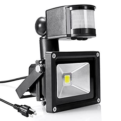 Warmoon Motion Sensor LED Flood Light 10W-30W