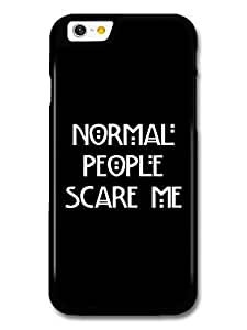 Beautifulcase American Horror Story Murder House Normal People Scare Me Evan Peters Emma Roberts KQ242xfqYt9 Quote case cover for iPhone 6 plus 5.5