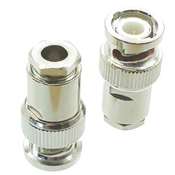1 BNC enchufe macho abrazadera RG58 RG142 LMR195 RG400 RF conector
